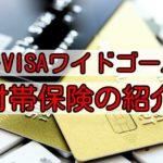 ANA・VISAワイドゴールドの保険とは?自動付帯保険について解説!